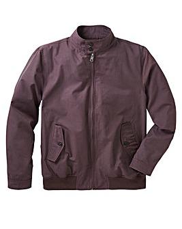 Grape Cotton Harrington Jacket Regular