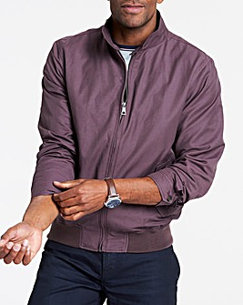 Grape Cotton Harrington Jacket Regular