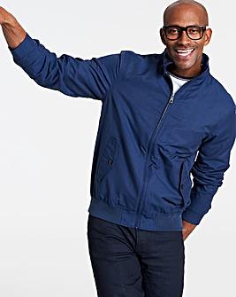 Navy Cotton Harrington Jacket Regular