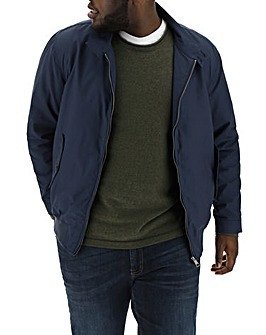 Navy Cotton Harrington Jacket Regular