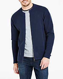 Turtle Neck Zip Cardigan