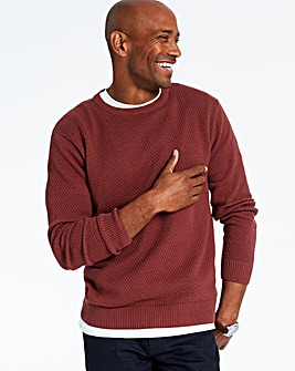 Berry Textured Crew Neck Jumper Regular