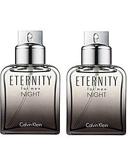 CK Eternity Night Men EDT Spray 50ML x2