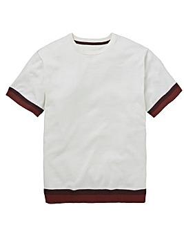 White T-Shirt Style Knit Regular
