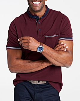 Baseball Collar Polo Shirt