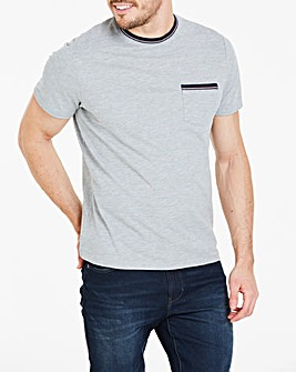 Grey Short Sleeve Pocket Tee