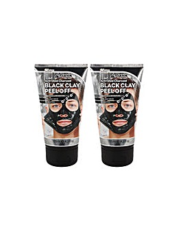 Montagne Jeunesse 7th Heaven Twin Pack Mens Clay Peel Off Masks