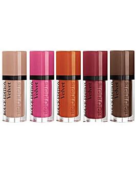 Bourjois Rouge Velvet Lipstick 5pc Set