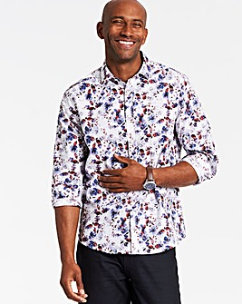 Long Sleeve Print Shirt Regular