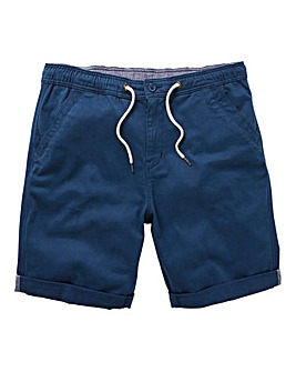 Navy Elasticated Waist Shorts