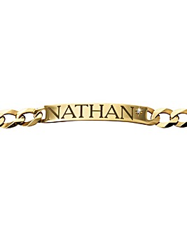 Gent's Gold-Plated ID Bracelet