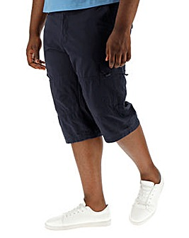 Navy Three Quarter Cargo Shorts