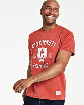 Red Short Sleeve Print T-Shirt Regular