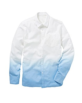 Long Sleeve Dip Dye Linen Shirt Regular