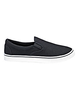 Basic Canvas Slip On Pumps