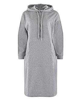 Grey Marl Hoodie Sweatdress