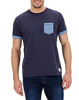 Navy Short Sleeve Pocket T-Shirt Regular