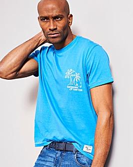 Blue Printed T-Shirt Regular