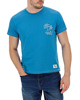 Blue Printed T-Shirt Regular