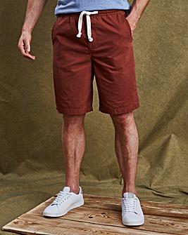 W&B Rust Elasticated Shorts