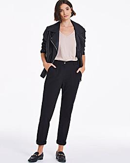 Black Cotton Rich Stretch Chino Trousers