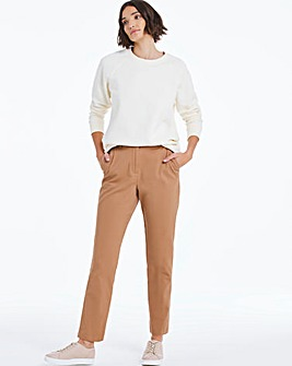 Camel Cotton Rich Stretch Chino Trousers