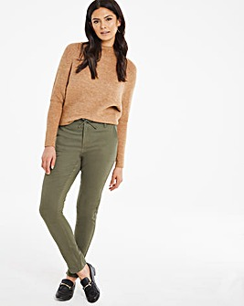 Khaki Casual Tapered Trousers