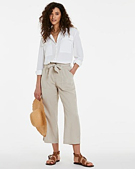Stone Tencel Belted Culottes