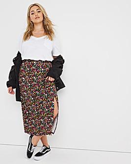 Supersoft Side Split Midi Skirt