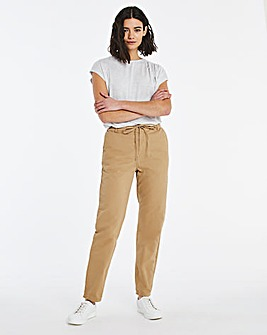 Cotton Poplin Casual Trousers