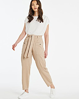 Soft Touch Belted Relaxed Trousers