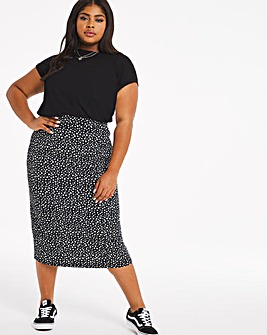 Disty Print Full Midi Skirt