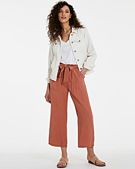 Terracotta Soft Lyocell Belted Culottes