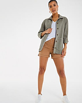 Camel Stretch Chino Shorts