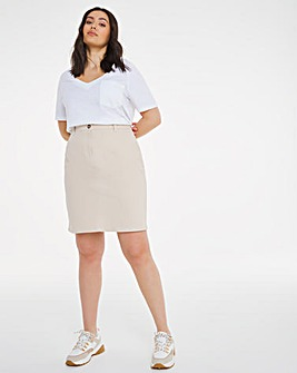 Stone Stretch Chino Skirt