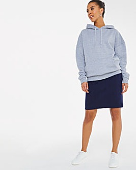 Navy Stretch Chino Skirt
