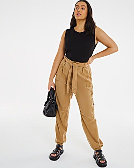Camel Soft Tencel Soft Cargo Pant