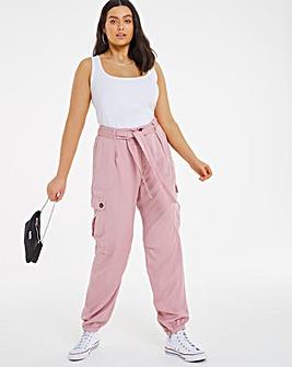 Pink Tencel Soft Cargo Pant