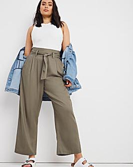 Khaki Tie Waist Trousers