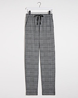 Check Tapered Jogger Trousers