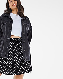 Mono Spot Tiered Mini Flippy Skirt