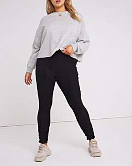 Ribbed Leggings with Ruching