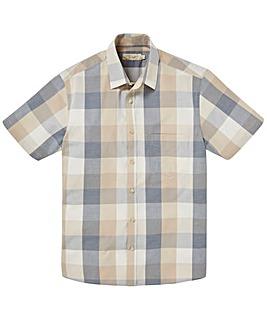 W&B Stone Short Sleeve Check Shirt