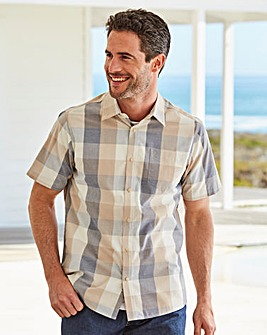 W&B Stone Short Sleeve Check Shirt