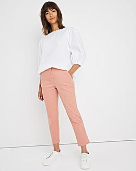 Blush Cotton Rich Stretch Chino Trousers