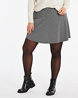Check Flippy Ponte Skirt