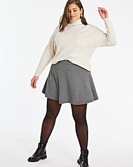 Check Flippy Ponte Skirt