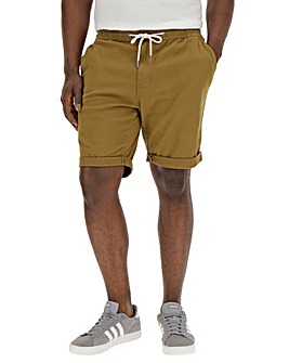 Khaki Elasticated Waist Shorts