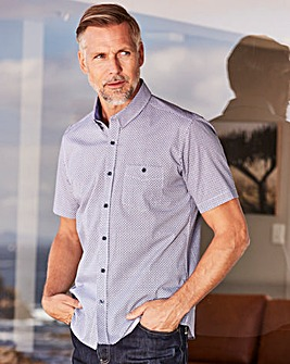 WILLIAMS & BROWN Short Sleeve Print Shirt