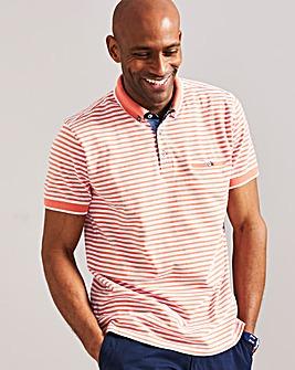Fine Stripe Polo Shirt Regular